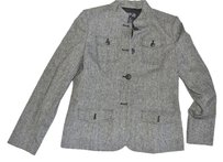 Style & Co 10pettite Jacket Suit grey tweed Blazer