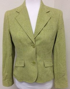 Style & Co Style Co Petites Blazer Wool Blend Lime Green Jacket