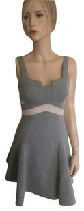 Stylestalker short dress Grey White on Tradesy