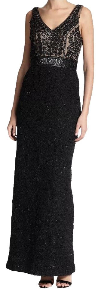 Sue wong black formal evevning gown