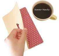 Other Notebook - Coptic Stitched Key shaped cutout A5 size 40 page Journal 2 notebooks in one package (red and blue)
