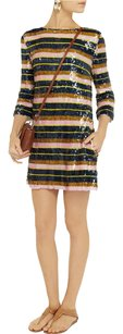 SUNO Sequin Striped Party Dress