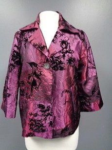 Susan Graver Style One Purple And Black Jacket