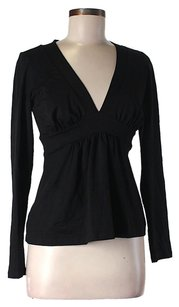 Susana Monaco V-neck Top Black