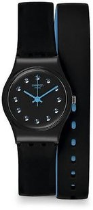 Swatch Swatch Black Nightview Ladies Watch Lb179