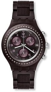 Swatch Swatch Tobacco Scent Chronograph Ladies Watch Svcv4000ag