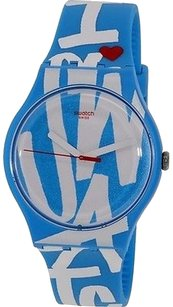 Swatch Swatch White In Blue Unisex Watch Suos103