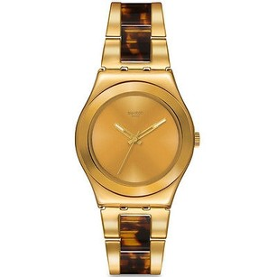 Swatch Swatch Ylg127g Womens Watch Gold Tone -
