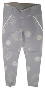 Sweaty Betty Sweaty Betty Lilac Stretch Graphic Print Side Zip Athletic Pants 2542a