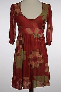 Sweet Pea by Stacy Frati Womens Red Pink Dress