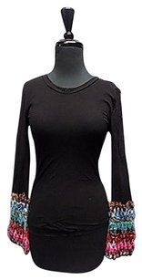 Sweet Pea by Stacy Frati Semi Sheer Top Black