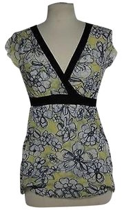 Sweet Pea by Stacy Frati Womens Black Top Yellow