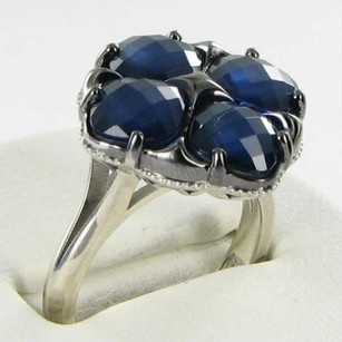 Tacori Tacori 18k925 City Lights Ring Blue Quartz Hematite Doublet 925