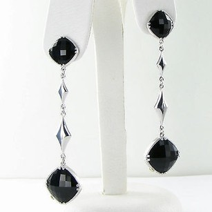 Tacori Tacori 18k925 Earrings City Lights Double Gem Drops Black Onyx 925