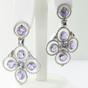 Tacori Tacori 18k925 Earrings Lilac Blossom Gem Pools Chandelier Amethyst 925
