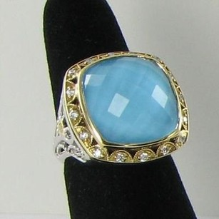Tacori Tacori Barbados Blue Ring 0.27ct Diamond 925 18k Yg Neo Turquoise