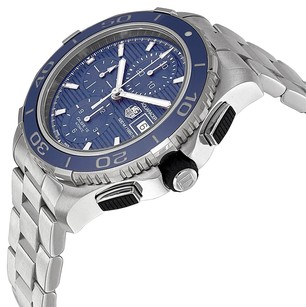 TAG Heuer TAG HEUER Aquaracer Chronograph Blue Dial Stainless Steel Men's Watch CAK2112BA0833