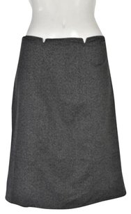 Tahari Womens Petite Herringbone Wtw Skirt Gray