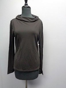 Tahari Long Sleeved Stretchy Cowl Neck Sma7142 Top Black