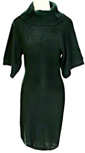 Dark Green Maxi Dress by Tahari Wool Knit Turtleneck