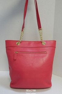 Talbots Fuscia Leather Tote in Pink