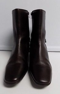 Talbots Zip On Dark Brown Boots