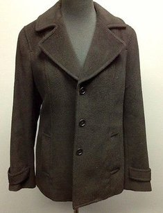 Talbots Wool Blend Lined Style Sm11490 Black Jacket