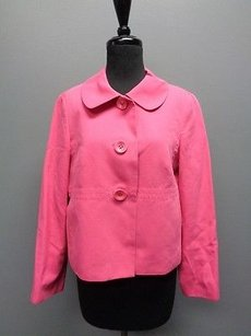 Talbots Petites Long Sleeve Button Down Cropped Wide Sma2232 Pink Jacket
