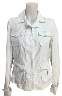 Talbots Long Sleeve Spring Womens White Jacket