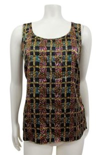 Talbots Blouse Geometric Top Multi-Color