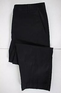 Talbots Womens Solid Blend Cropped Capri/Cropped Pants Black