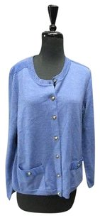Talbots Petites Long Sleeves Button Front Pockets Cardigan Xlp 5463 A Sweater
