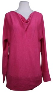 Talbots Womens Cowl Neck Wool Long Sleeve Casual Shirt Sweater