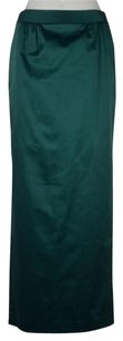 Talbots Womens Metallic Maxi Ankle Length Pencil Formal Skirt Green