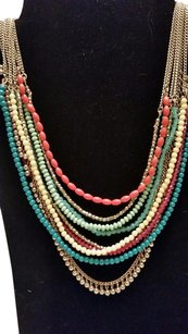Talbots Mulit colored, chunky, gold necklace