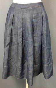 Talbots Cotton Blend Skirt Blue