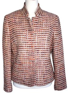 Talbots Talbot's Multi Color Pink Tweed Jacket Blazer