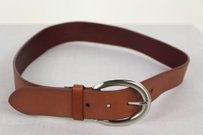 Talbots Talbots Womens Brown Belt Leather Silver Buckle