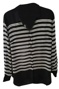 Talbots Top Navy blue and white