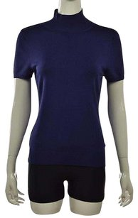 Talbots Petites Womens Top Purple
