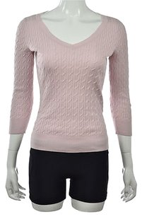 Talbots Womens V Neck Cotton Long Sleeve Shirt Sweater