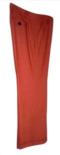 Talbots Wool Straight-leg Casual Wide Leg Pants Coral