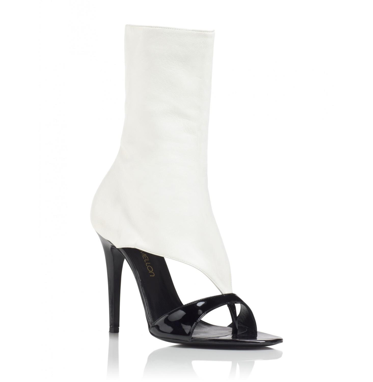 Tamara Mellon Black/Cream Basic Instinct 105mm Heels Sandals Size EU 37 (Approx. US 7) Regular (M, B)