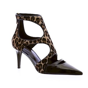 Tamara Mellon Leopard/Black Sandals