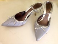 Te Casan Ankle Strap Wedding Silver/Grey Formal