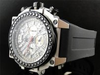 Techno Com by KC Mens Techno Com Kc Joe Rodeo Jojo Genuine Weg Sil Black Diamond Watch Ct