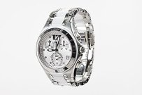 TechnoMarine Technomarine Stainless Steel Ceramic Diamond Neo Classic Chronograph Watch