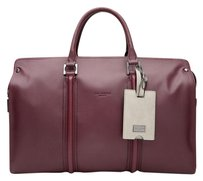 Ted Baker Leather Burgundy Silver New With Tags Dogtag Oxblood Travel Bag
