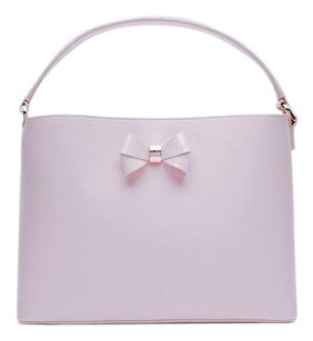 Ted Baker Leather Rose Gold Satchel in Lilac