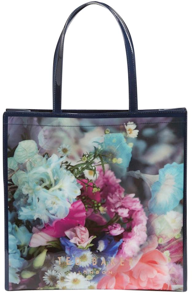 Ted Baker Blue Floral Plastic Large Icon Tapcon Bouquet Tote - Tradesy